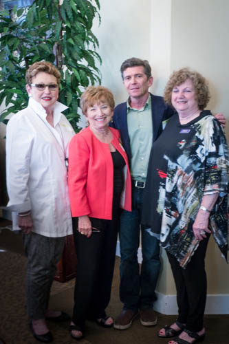 Co-Chairs Fran Spring and Shari Paler, Stephen McCauley, and Chapter President Shelly Youngelman