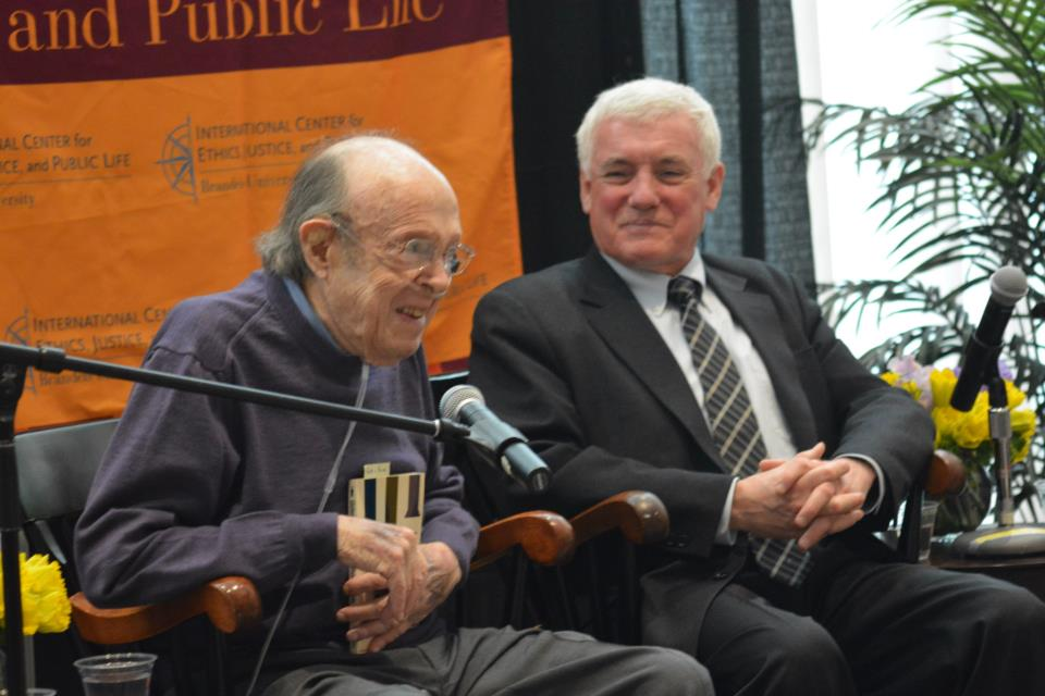 Anthony Lewis and Bill Leahy at the Brandeis University, March 18 2013