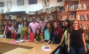(Most of) the first year class in the M.A. Program in American Studies at Al-Quds University
