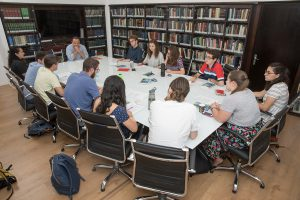 Grantee Yael Jaffee with Hartman Institute fellows, 2017