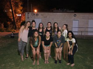 Haley with her fellow program participants and Israel representatives or shlichim