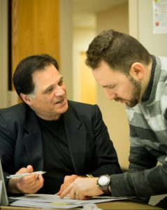 Professor with student