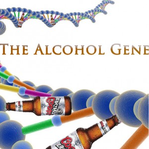 Cartoon of the alcohol gene