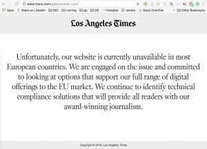 LA Times Unavailable Message