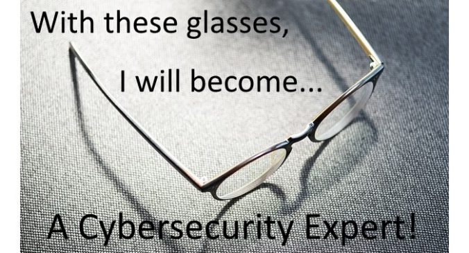With these glasses I will become a Cybersecurity Expert!