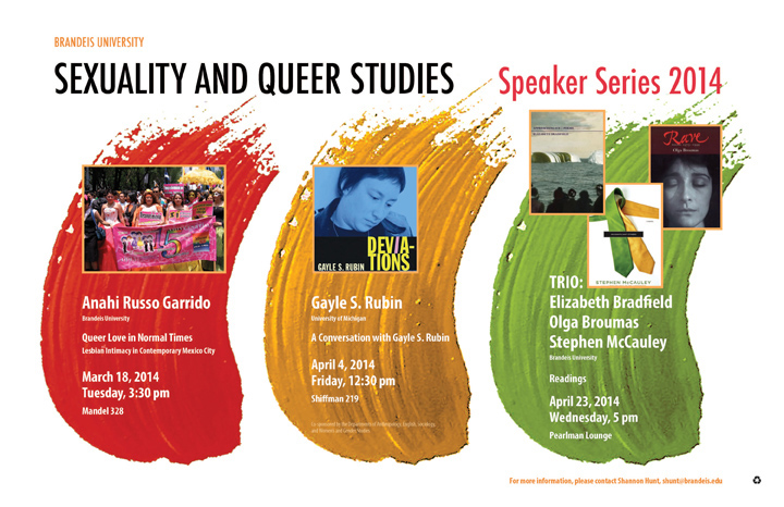 Sexuality and Queer Studies Spring Speaker Series 2014