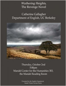 Catherine Gallagher Lecture