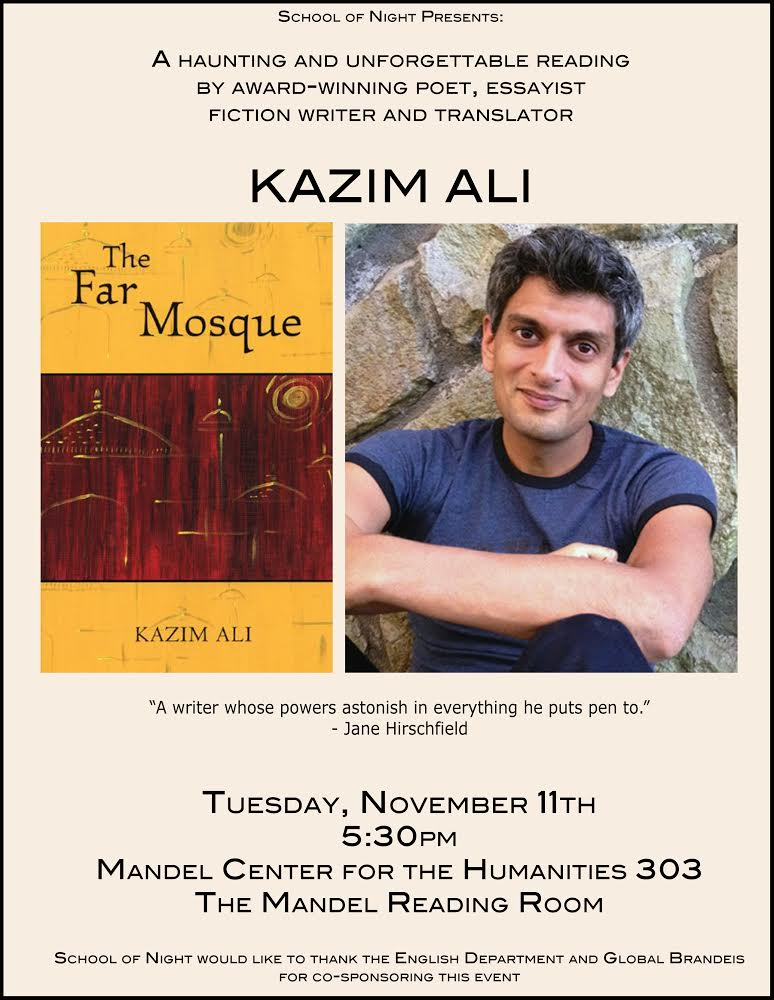Kazim Ali Reading