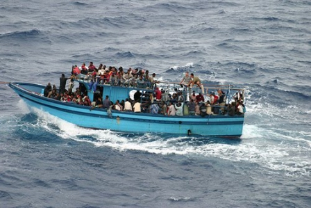Refugees of Libyan War head to Europe.