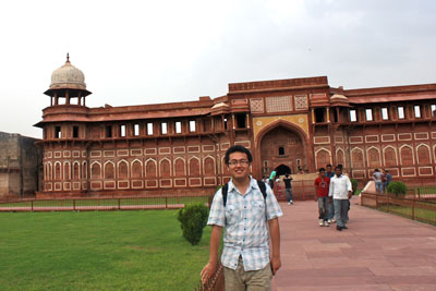 Terry at Agra Fort in Uttar Pradesh