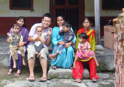 At the Day Care Center in Himachal Pradesh. One part of my job as a volunteer is to take care of these children when their parents are at work.
