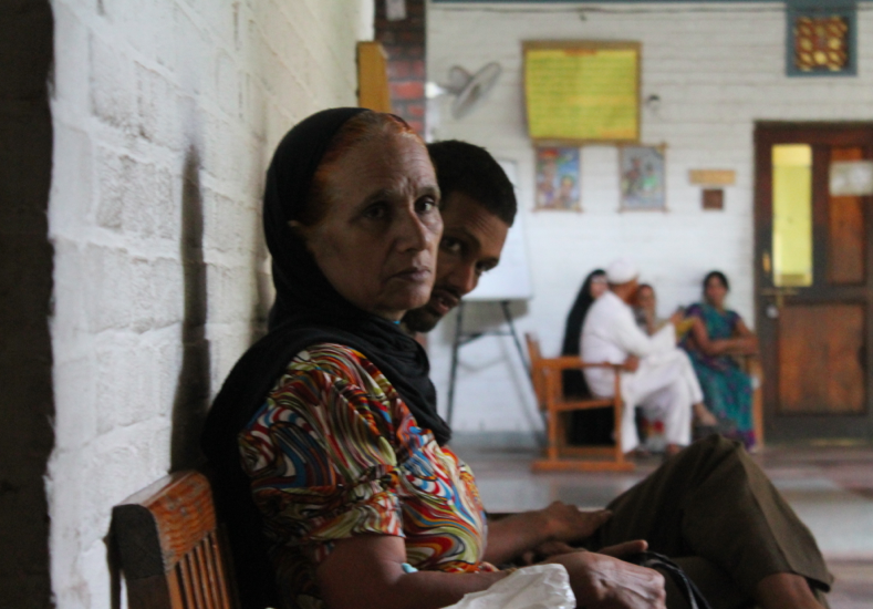 Patients waiting for their treatment at the Clinic.