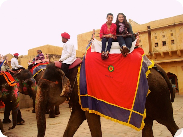 The Indian experience- riding my first elephant!