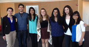Left to right: Ariel Magid, Jonathan Wexler, Ankita Sukthankar, Aliza Gans, Rhea Sanghi, Jessica Friedman, Farhat Jilalbhoy (not pictured: Kiran Gill, Molly Lortie, and Alina Pokhrel)