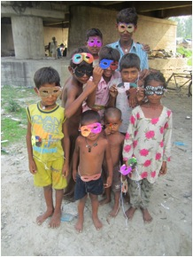 The After School Fun Club with their masks