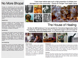 Brochure for Sambhavna 2 (inside page)