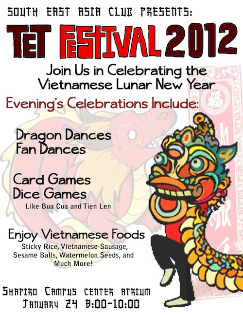 <!-- AddThis Sharing Buttons above -->The South East Asia Club started the Spring 2012 semester with a Vietnamese Lunar New Year. The celebration included dances, games and food!<!-- AddThis Sharing Buttons below -->