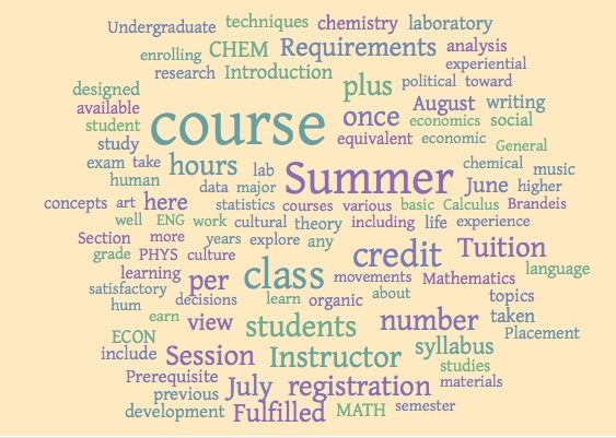 Brandeis Summer Courses University College 2013