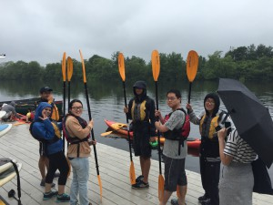 Students learning to Kayak!