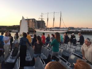 Sunset cruise in Boston Harbor!