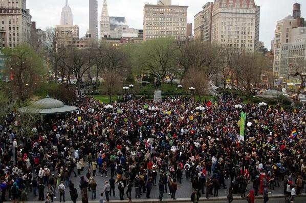 Protest in Union Square, New York, over Trayvon Martin case. Photographer: David Shankbone, Wikimedia Commons