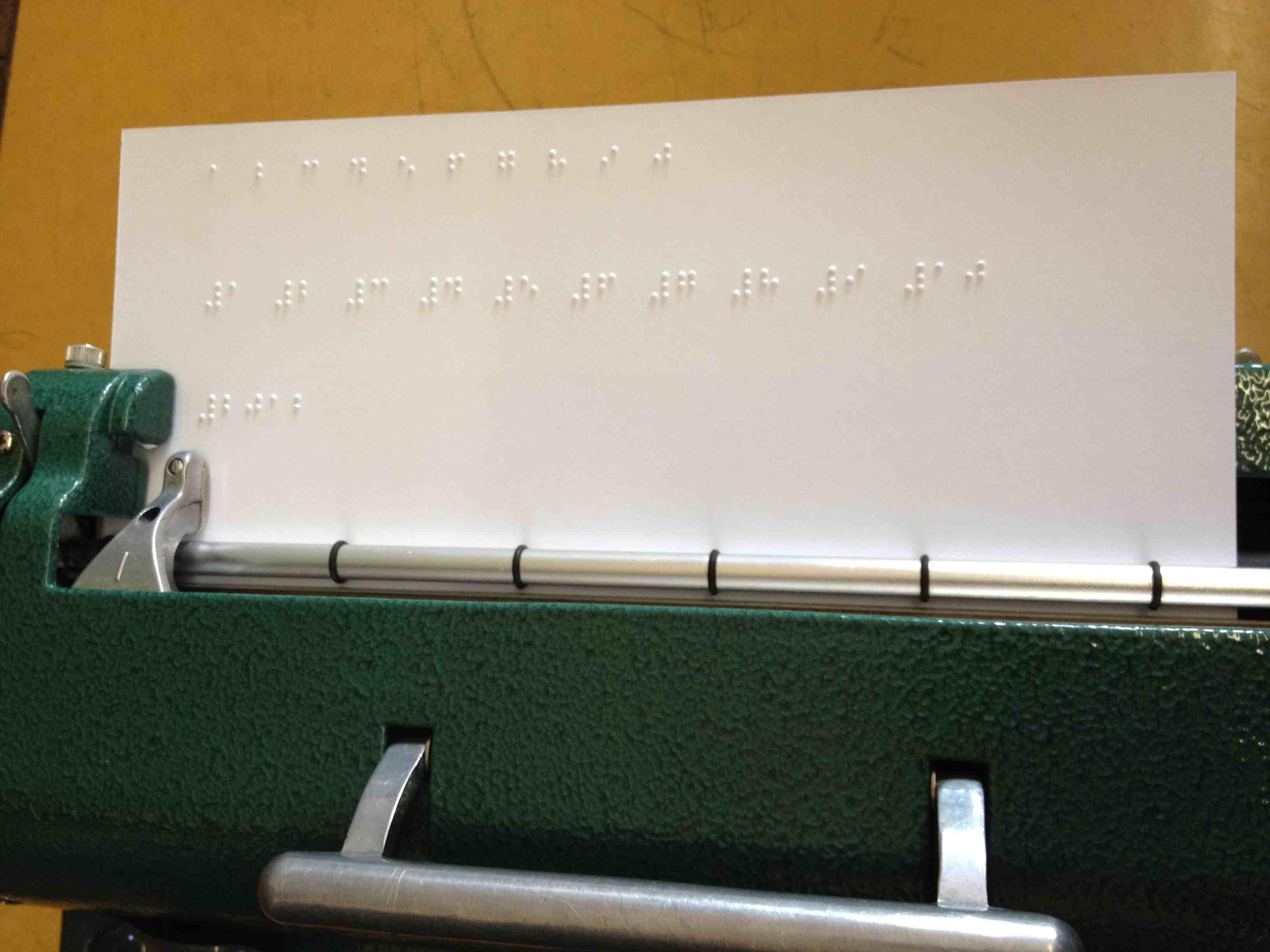 Braille closeup