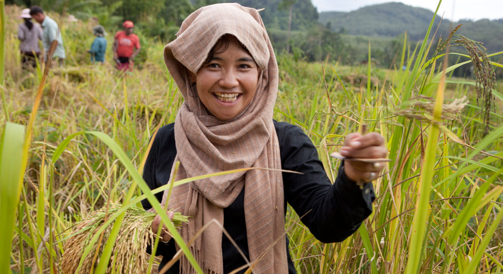 This young woman from AJWS grantee Southern Farmers Alliance, in Thailand, is using sustainable agriculture practices to increase local food yields. PHOTO  James Robert Fuller