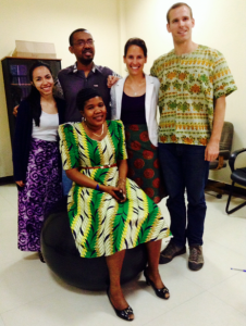 "The EGMVI team on my first ""African Wear Friday"""
