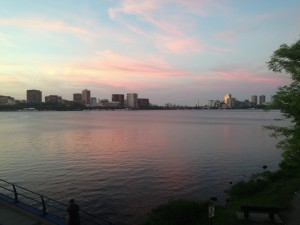 The scenic Charles River on my commute home!