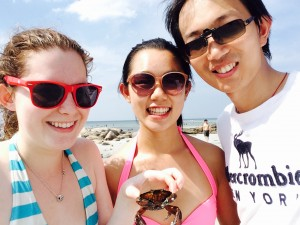 McLab Members at the annual Weinberg Beach Day at Wingaersheek Beach (Gloucester, MA). We named our new friend McCrab!
