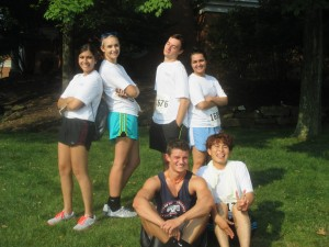 Lab interns after completing a 5K for the Cleveland Clinic!