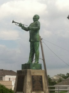 Louis Armstrong memorial at Algiers Point, New Orleans.