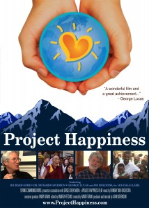 The poster for the Project Happiness film, directed by our founder.