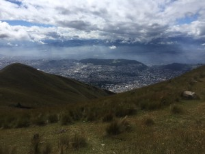 Looking down on Quito from Pichincha Volcano