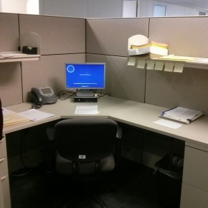 My own little cubicle
