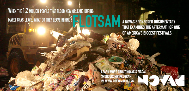 The website banner I designed for one of NOVAC's sponsored documentaries, Flotsam.