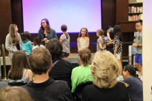 Presenting the graphic noveling pieces at the weekly Writopia showcase