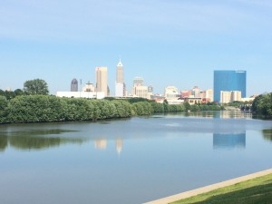 The beautiful view of Indianapolis very close to the Worker Justice Center