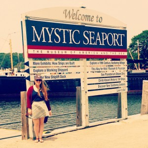 Me visiting the Mystic Seaport, 20 minutes away from the O'Neill.