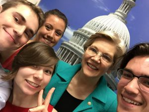MAPA interns with MA Senator Elizabeth Warren!