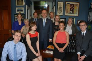 Members of Massachusetts Peace Action meet with MA Rep. Jim McGovern.