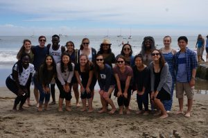 Me with the other LifeMoves interns at out beach retreat