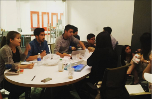 Our first team meeting, in the Made in NY Film Center in Brooklyn, NY. (from the @asiancinevision Instagram)