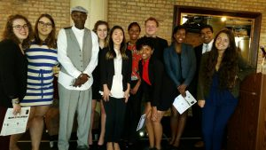 The CIC interns with Stanley Wrice at a legal luncheon