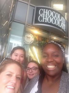 """Chocolate Thursday"" Outing - Every Thursday all the interns go to a chocolate store around the corner. We go to this specific shop because its products are fair trade."