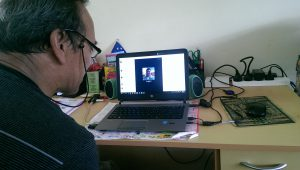 Skype meetings together with my boss at the High Tech Youth Network and other HTYN centers across the Pacific