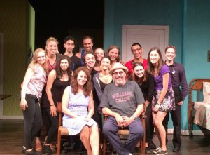 The Stage Management team, crew, and cast of And No More Shall We Part.