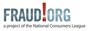 The logo for NCL's Fraud.org site, which gives advice to consumers about avoiding scams.