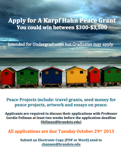 Karpf and Hahn Peace Prize | Peace, Conflict, and